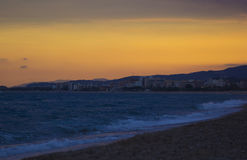 Sunset. A sunset in Malgrat de Mar Stock Image