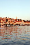 Sunset in Mali Losinj,Croatia. Sunset in harbour in Mali Losinj in summer,Croatia Stock Images