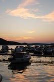 Sunset in Mali Losinj,Croatia Royalty Free Stock Images