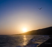 Sunset in Malibu. Beautiful sunset in Malibu, California Royalty Free Stock Images