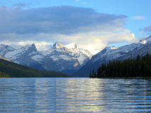 Sunset at Maligne lake, Jasper national park, Canada Stock Photos