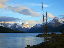 Sunset at Maligne lake, Jasper national park, Canada. Browse my gallery for more images from canada Stock Photography