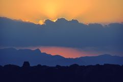 Sunset in Mallorca island with cloudscape Stock Image