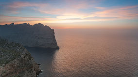 Sunset at Mallorca. Sunset near Cap de Formentor, Mallorca Stock Photos