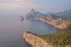 Sunset at Mallorca. Sunset near Cap de Formentor, Mallorca Royalty Free Stock Images