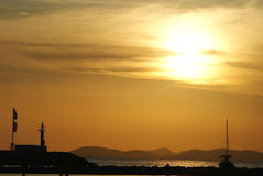 Sunset, Mallorca Royalty Free Stock Photos