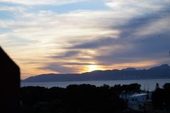 Sunset in Mallorca. Spain, Europe Royalty Free Stock Photo
