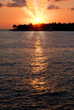 Sunset at Mallory Square. In Key West Florida Stock Photography