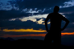 Sunset man Stock Images