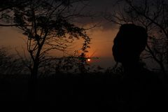 Sunset and man royalty free stock images