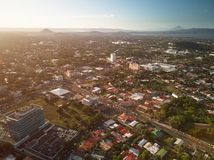 Sunset at Managua city stock images