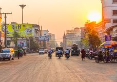 Sunset in Mandalay Royalty Free Stock Images