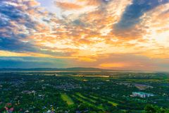 Sunset. At Mandalay hill Stock Photos