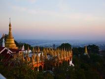 Sunset at Mandalay Hill Stock Photography