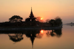 Sunset in Mandalay stock photo