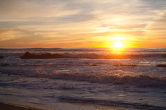 Sunset at Manhattan Beach, Half Moon Bay, California Royalty Free Stock Photo