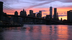 Sunset on Manhattan stock footage