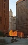 Sunset in Manhattan. Stock Photo