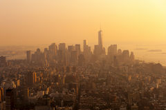 Sunset on Manhattan Royalty Free Stock Images