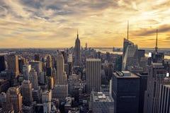 Sunset on Manhattan Royalty Free Stock Photo