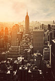 Sunset in Manhattan Royalty Free Stock Images