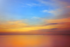 Sunset at Manila Bay, Philippines Royalty Free Stock Photography