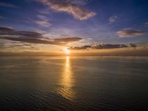 Sunset in Manila, Philippines.Bay City, Pasay. royalty free stock photography