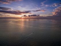 Sunset in Manila, Philippines. Bay City, Pasay Area Royalty Free Stock Photos