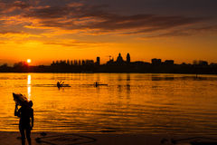 Sunset Mantua Stock Photo