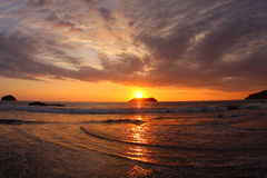 Sunset in Manuel Antonio (Costa Rica). Sunset in Manuel Antonio National Park (Costa Rica Stock Photography