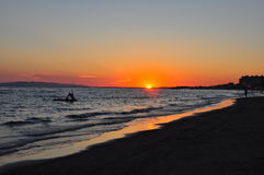 Sunset in Maremma. Royalty Free Stock Photo