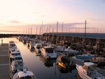Sunset marina Royalty Free Stock Image