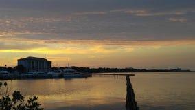 Sunset. Marina orange sunset Stock Photos