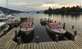 A Sunset Marina Shot in Bowness-on-Windermere Royalty Free Stock Photography