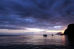 Sunset at Marine Royalty Free Stock Images