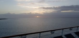 Sunset. From mariner of the seas ship royalty free stock photography