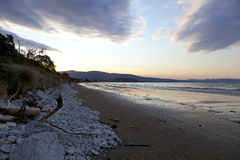 Sunset on the Marlborough Sounds New Zealand Stock Photos