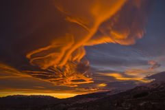 Sunset on mars Royalty Free Stock Photo