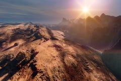 Sunset on Mars Royalty Free Stock Image