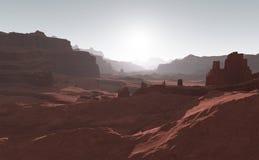 Sunset on Mars. Stock Photos