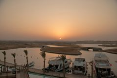 Sunset in Marsa Alam bay Egypt Stock Photography