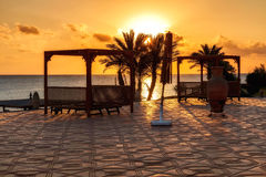 Sunset in Marsa Alam, red sea, Egypt Royalty Free Stock Image