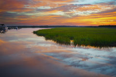Sunset on the Marsh Stock Photos