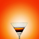 Sunset martini Stock Photos