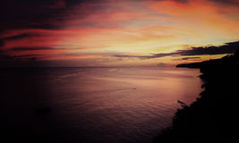 Sunset, Martinique. Stock Images