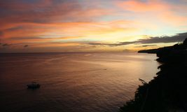 Sunset, Martinique. Stock Image