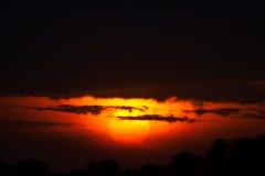 Sunset in Masai Mara royalty free stock photos