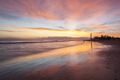 Sunset in Maspalomas Royalty Free Stock Photography