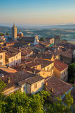 Sunset in Massa Marittima Stock Image