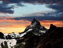 Sunset on the Matterhorn Stock Photos